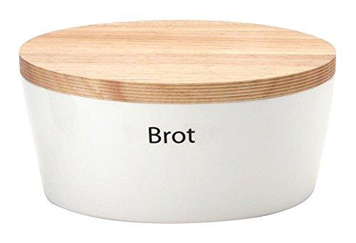 Brottopf Steingut mit Holzdeckel